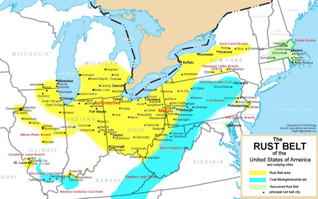 Panorama de la géographie économique des États-Unis